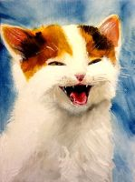 Laughing Kitten by Fire-Redhead