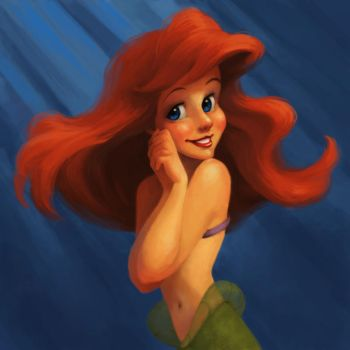 Ariel Coloring Exercise by looking-at-the-stars