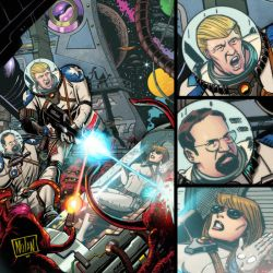 Trump's Space Force Back Cover by ninjaink