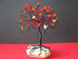 Wire Fantasy Tree Of Life Sculpture by oto-robotnik