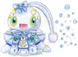 Sweet Manaphy wiht Bubbles