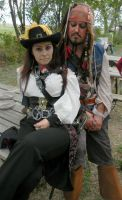 Jack Sparrow and Angelica love by Perez2407