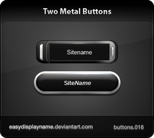 Two Metal Buttons by easydisplayname