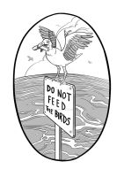 Do Not Feed The Birds by ginaviglietti