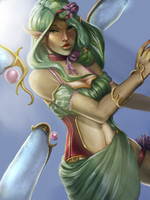 Talia the Lotus Faerie by CrisisDragonfly