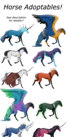 HORSE ADOPTABLES | 7/12 open - MUST GO by SandStoneArt