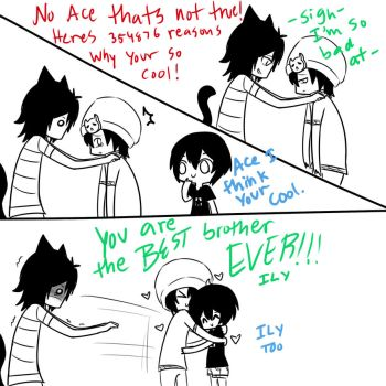 Anything and Everything - A cat named Zero pg 3 by AdversusZero