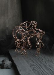 Betta fish wire sculpture by UrsulaJewelry