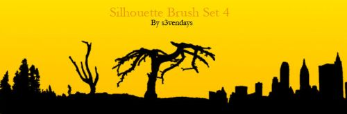 Silhouette Brush Set 4 by s3vendays