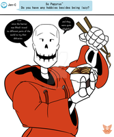 Ask Papyrus Underswap Edition.. by RB9