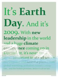 Earth Day 2009 Poster by electricnet