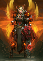 World of Warcraft - Character Commission - RoRippa by RogierB