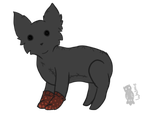 Red spotted socks by Watmie