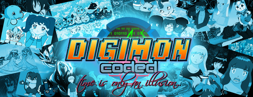 Digimon Coded Website Banner by RedViolentLove