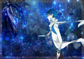 *---8 years of Blue---*    ---*KAITO wallpaper*--- by Geellick