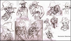 Illustration Project Sketches by WeirdHyenas