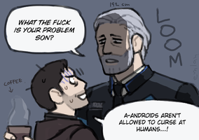 gavin and android hank by emlan
