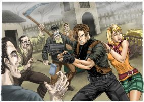Resident Evil 4: Leon and Ashley (update) by rodstella
