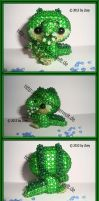 crocodile of beads by Zoey-01