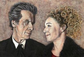Twelve and River Song Acrylic Painting by Gothscifigirl