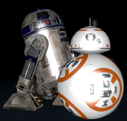 (SFM) R2-D2 and BB-8 by NestieBot