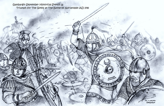 Triumph of the Goths at Adrianople (AD 378) by Gambargin