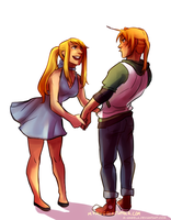 Don't tell me you can't dance, mr. Elric by m-angela