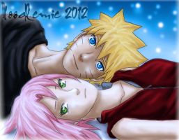 narusaku:beneath the starry sky by noodlemie