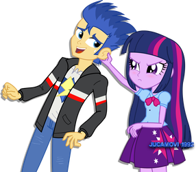 Twilight is angry with Flash Sentry by jucamovi1992