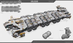 Helionis - refueling spaceship by Obey-art