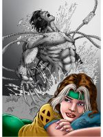 Rogue and Weapon X_Colors by Troianocomics