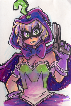Magical Girl Mysterion Marker Doodle by real-faker