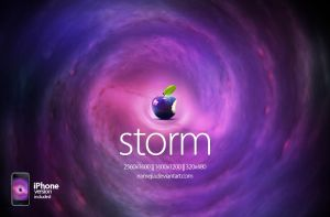 Storm Apple Wallpaper by EAMejia