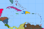 Blank map of the Caribbean by DinoSpain