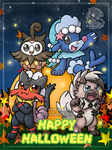 [Fanart] Pokemon Sun and Moon Halloween by Veemonsito