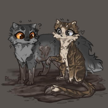 Brook and Stormfur by GrayPillow