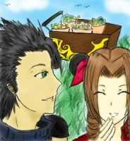 Zack and Aerith by InfiniteShatter