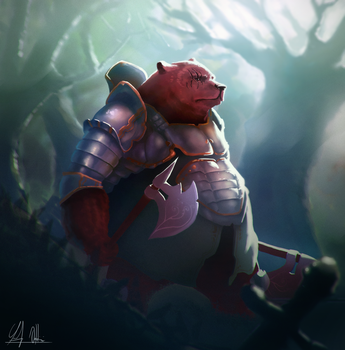 Bear Knight by lazerman425