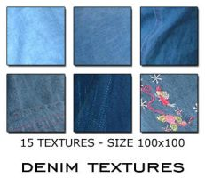Textures 100x100 - Denim by Lorellipsis