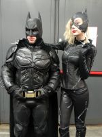 Batman and Catwoman - Cos-Mo 2017 by Groucho91