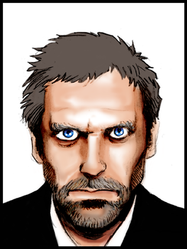 Gregory House (Hugh Laurie) by OlivierAJRamon