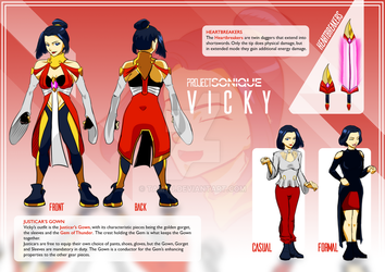 OC Sheet - Vicky - PROJECT SONIQUE by tamtu