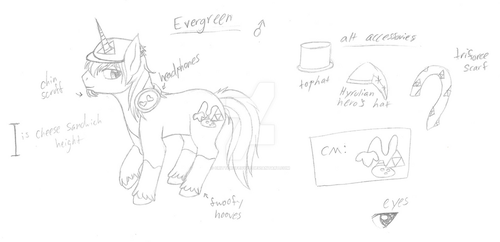 Evergreen - MLP Sona REF Sketch Wip by CritterOfEgypt