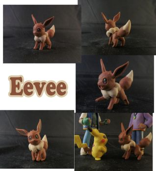 Eevee Sculpture: Collage by ClayPita