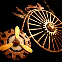 Tricked-Out Flying Bicycle by SteamSociety
