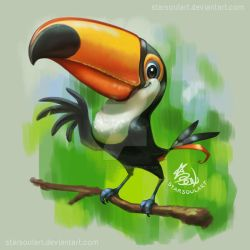 Toco Toucan by StarSoulArt
