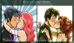 First Kiss: before and after by TrueLoveStory