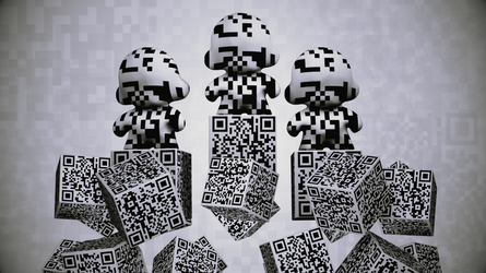 QR Code Dunny, They are Among by G2B
