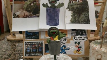 Oscar the Grouch sculpt by Speezi