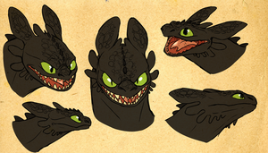 toothless shetches by Goldylawk